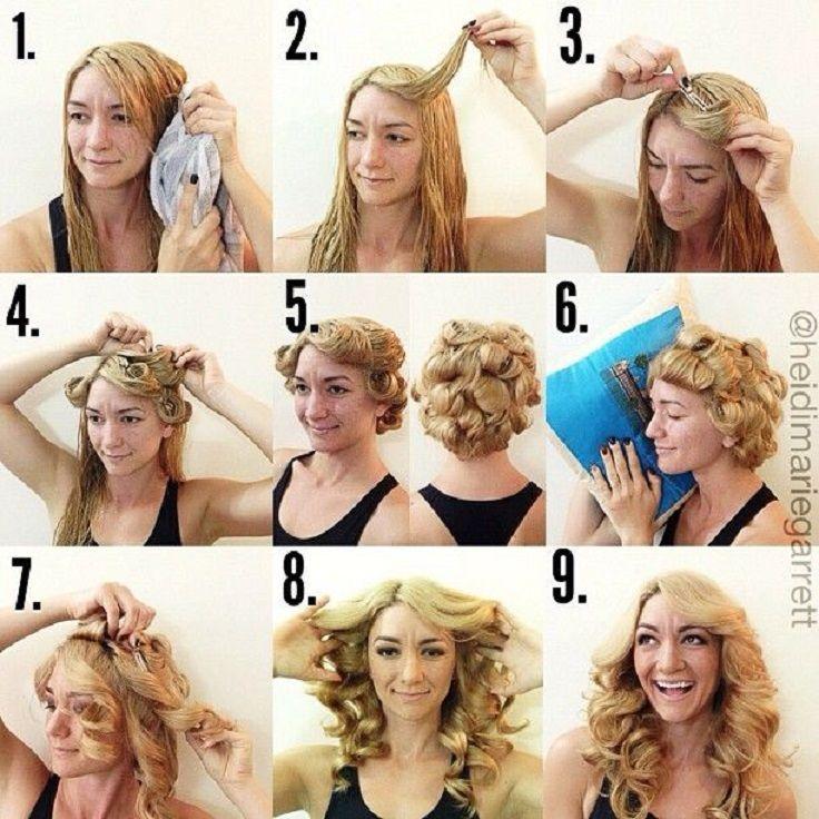 Красивые кудри на средние волосы как сделать