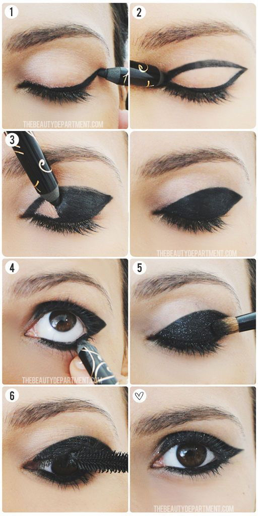 Use Black Liner and Glitter to Create Dramatic Look