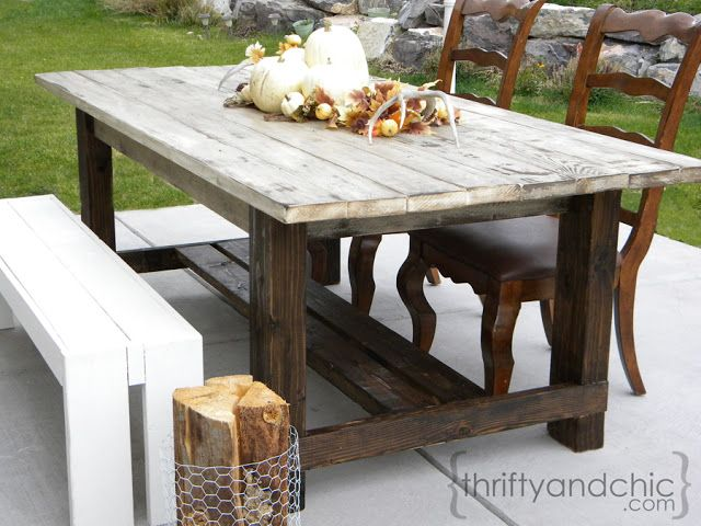 outdoor farmhouse table creative cheap and chic decorating
