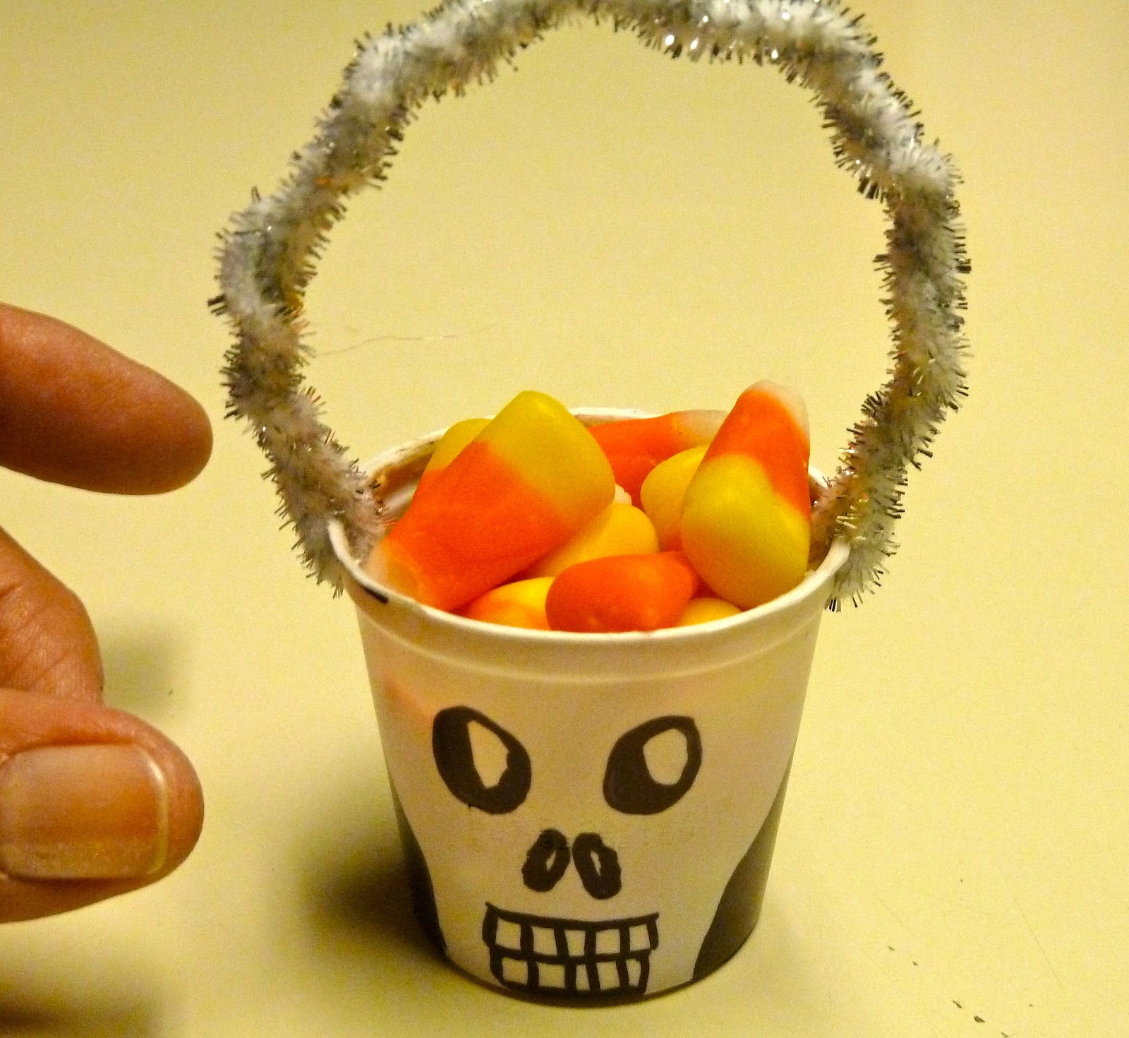 K-Cup Skeleton Halloween Favor