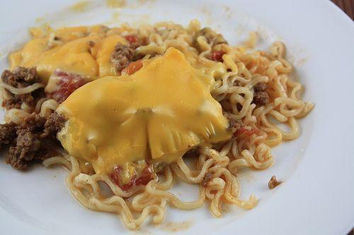 Ramen Noodle Casserole : I just couldn't pass this Ramen Noodle ...