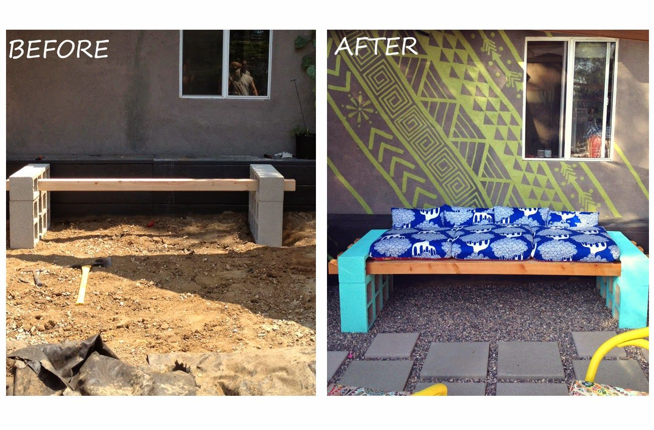concrete and cinder block outdoor diy projects list inspired