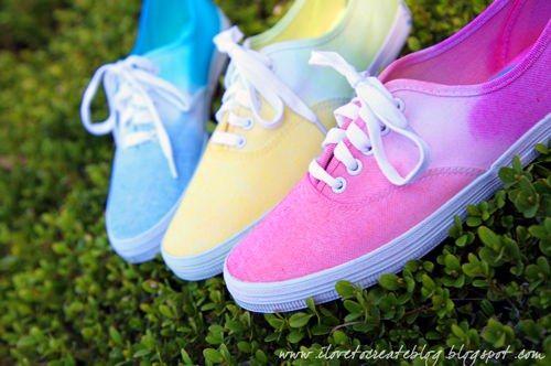 Ombre Tie Dye Sneakers