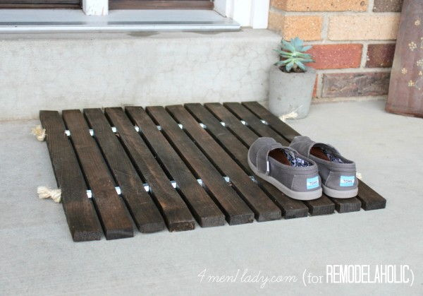 Wood Mat : Keep the sand and dirt out of your house with an easy ...