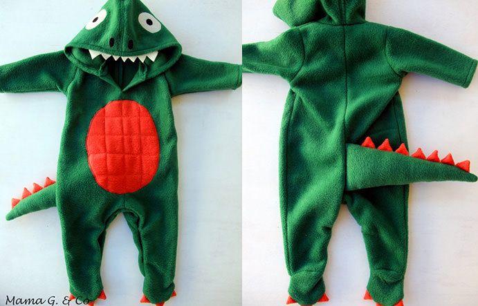 Как сшить костюм динозавра фото