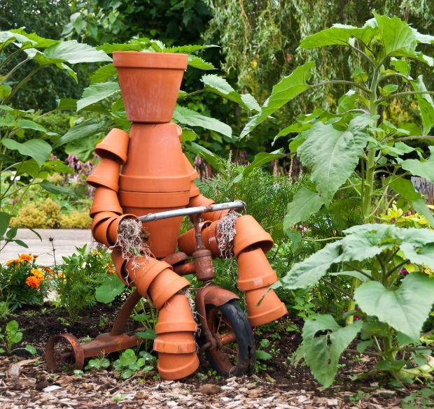 Terra Cotta Clay Pot Garden Person