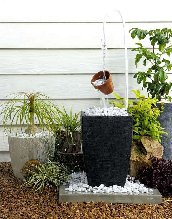 Garden Design With Awesome Water Features DIY Ideas To Make Any Home  Complete With Garden Shed
