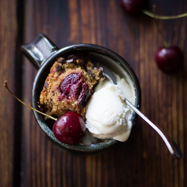 46. Chocolate Cherry Skillet Blondie + Vanilla Bourbon Frozen Yogurt ...
