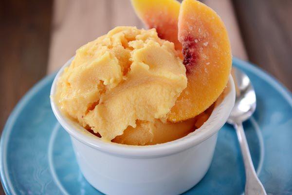 frozen yogurt you ll never believe this luxurious creamy peach frozen ...