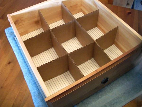 Разделители в ящики для хранения своими руками 2