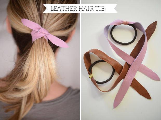 Как сделать резинки для волос своими руками из лент фото