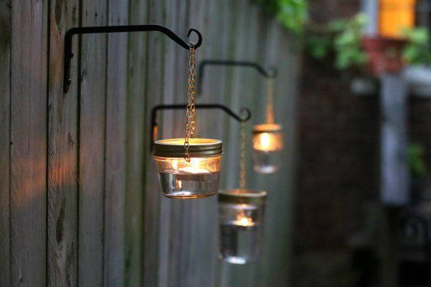 Outdoor hanging mason jar light a glowing gathering diy outdoor