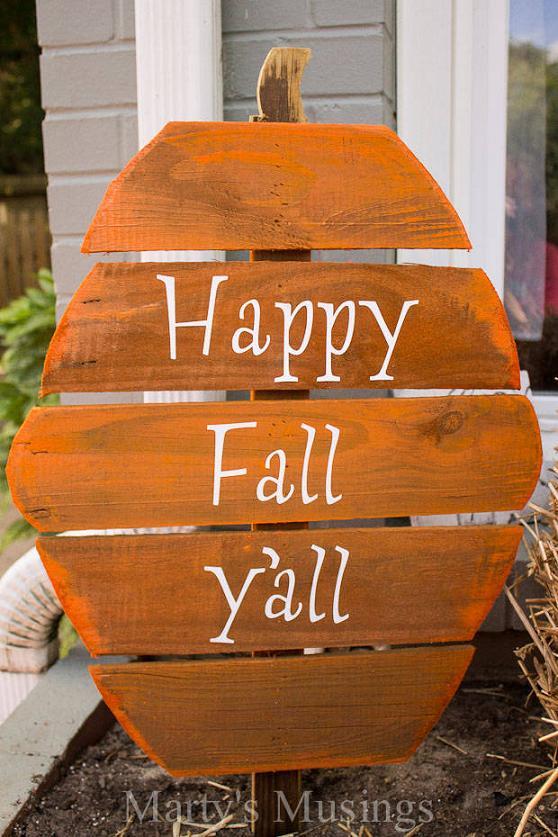 Fence Board Pumpkins
