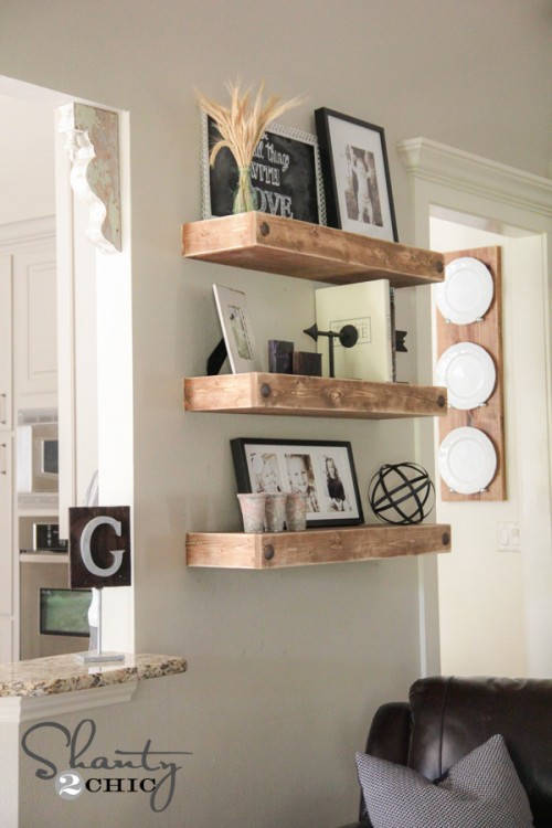 Rustic Home Decor Ideas 14 Floating Shelves