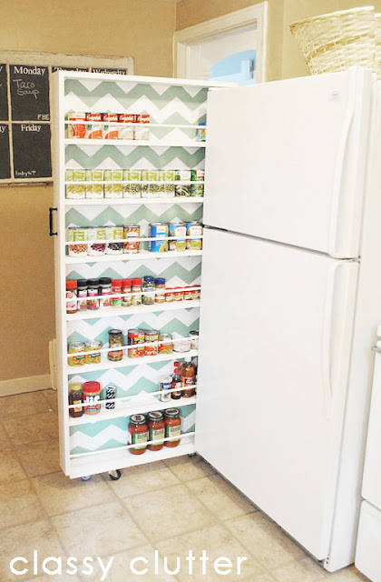slider storage i built this diy canned food organizer and its basically changed my life lets start by saying have you see my little kitchen
