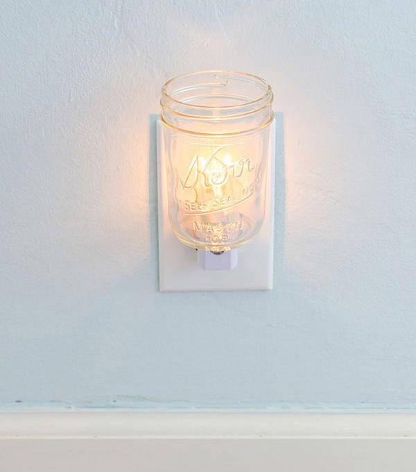 Mason Jar Night Light
