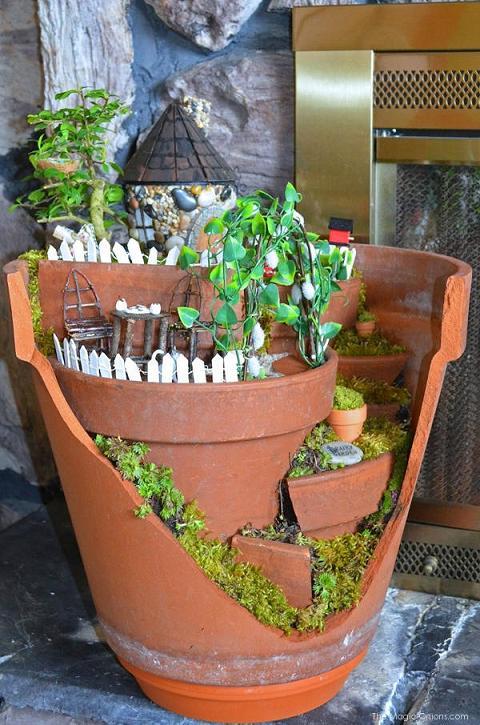 Layered Fairy Garden