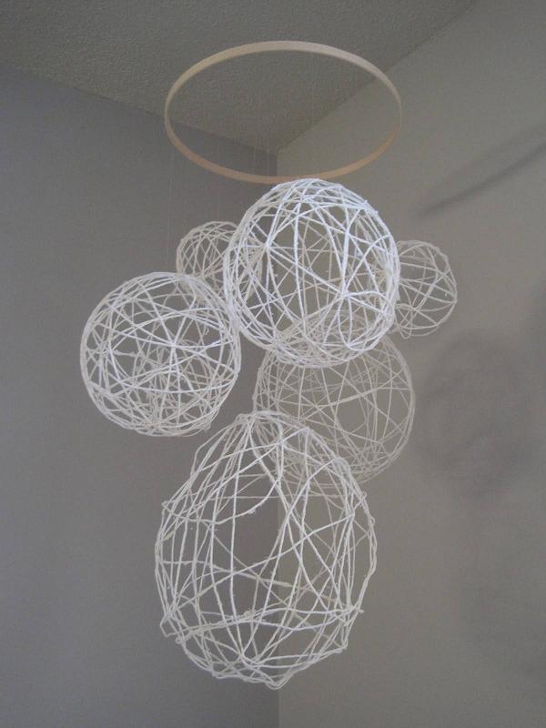 White Wire Circle Mobile