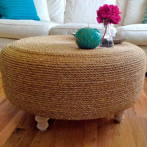 50 creative ideas to reuse and recycle old tires list inspired - Creative diy ottoman ideas ...