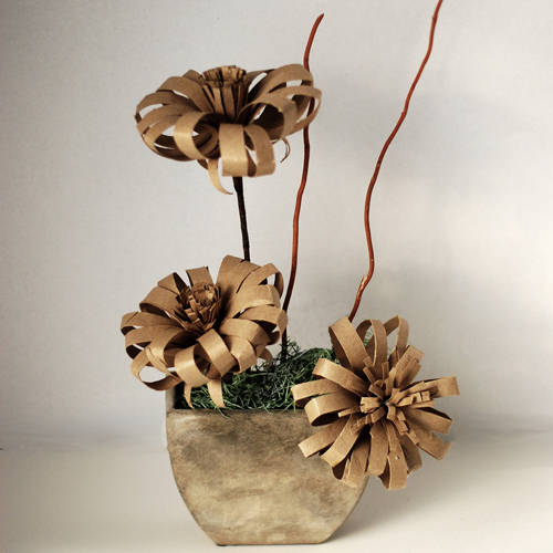 50 creative diy toilet paper roll craft ideas and for Cardboard tube flowers