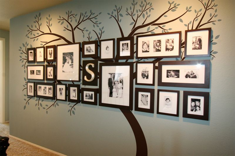 10 family photo tree wall art