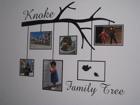 12 family tree wall graphic with photo frames - Family Tree Design Ideas