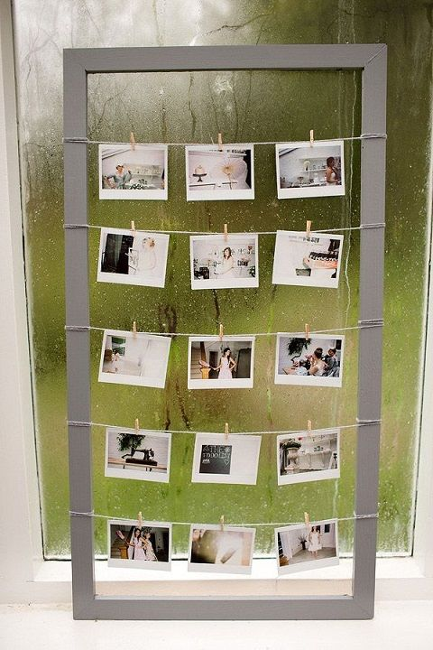 9 polaroid photo frame