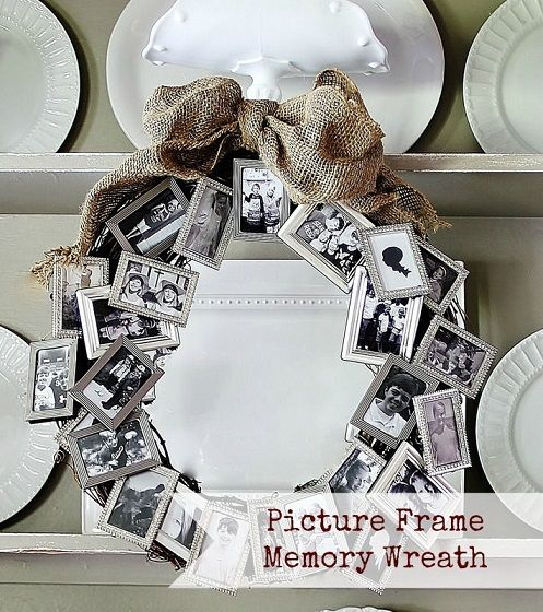 5 picture frame memory wreath