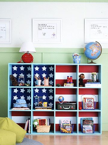 Teach kids how to tidy up by putting storage on their level