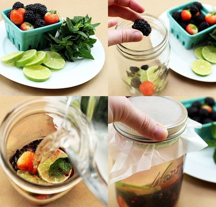 Berry, Lime, and Mint