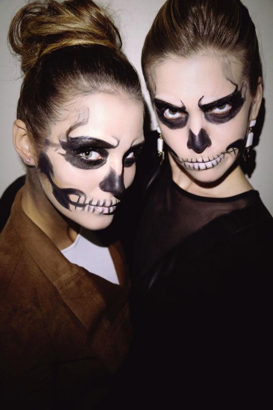 50 Cheap And Easy Last Minute Halloween Costume Ideas - Skeleton Halloween Costume Makeup