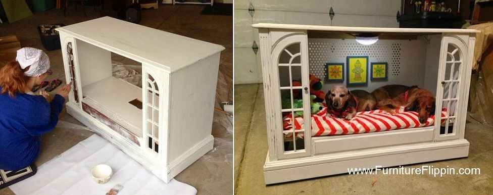TV Console to Dog Bed