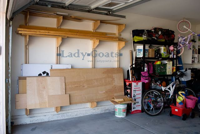 2 Wall Mounted Lumber Rack. 50 Genius DIY Garage Storage and Organization Project Ideas
