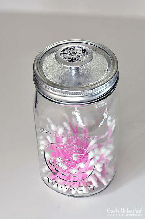 35 genius organization diy project ideas using mason jars for Mason jar craft storage