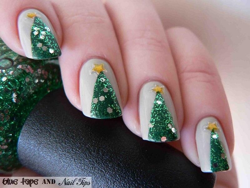 36 sparkling nail designs for christmas party. images for christmas ...