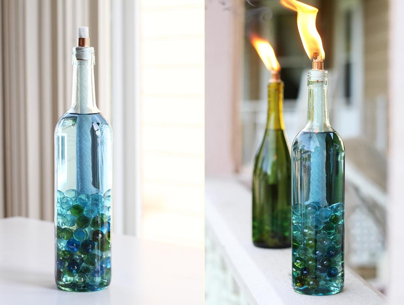 50 awesome recycled glass bottle projects to make page 5 for Diy projects with wine bottles