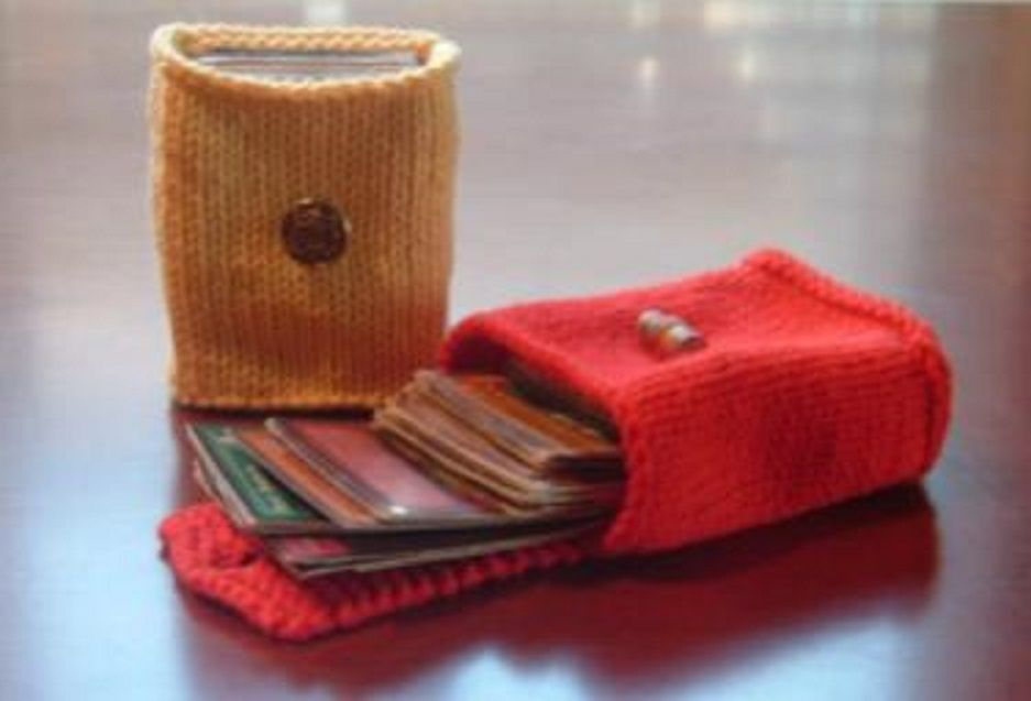 card holders the daily knitter offers free knitting patterns knitting ...