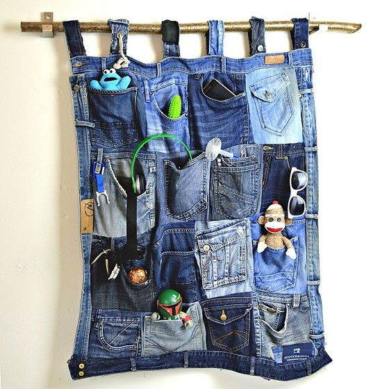 Denim Pocket Organizer