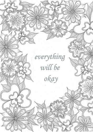 Everything will be okay for Relaxing coloring pages