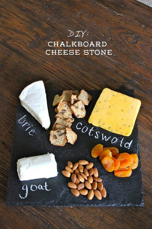 Chalkboard Cheese Stone