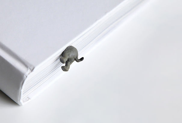 Baby Elephant Bookmark