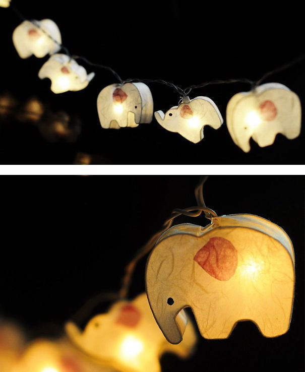 Elephant Paper Lantern String Light