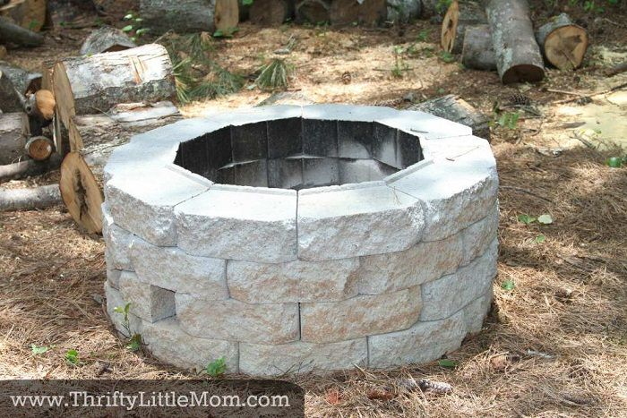 Inexpensive Firepit for Backyard Fun : A simple DIY inexpensive ...