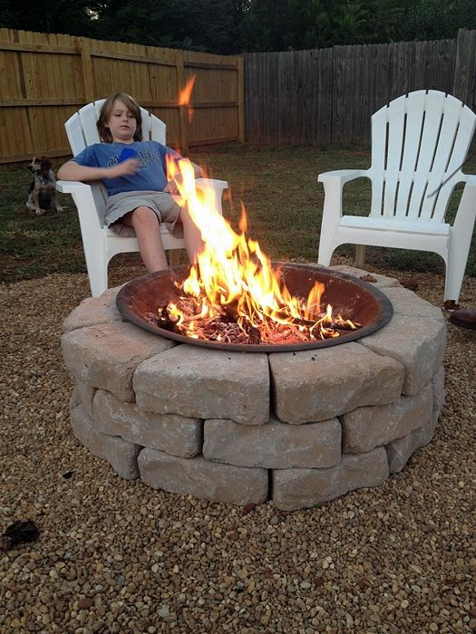 Easy Diy Backyard Fire Pit : Backyard Fire Pit  Make an easy and inexpensive diy backyard fire pit