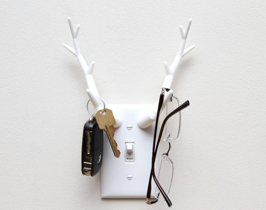 30 awesome and creative key holder designs list inspired - Antler key rack ...