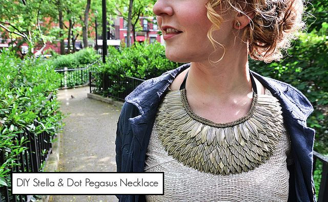 Stella and Dot Pegasus Necklace
