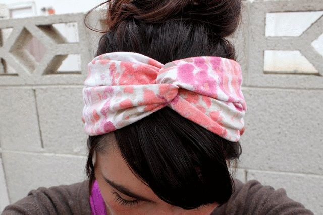 Old T-Shirt Twisted Turban Headband