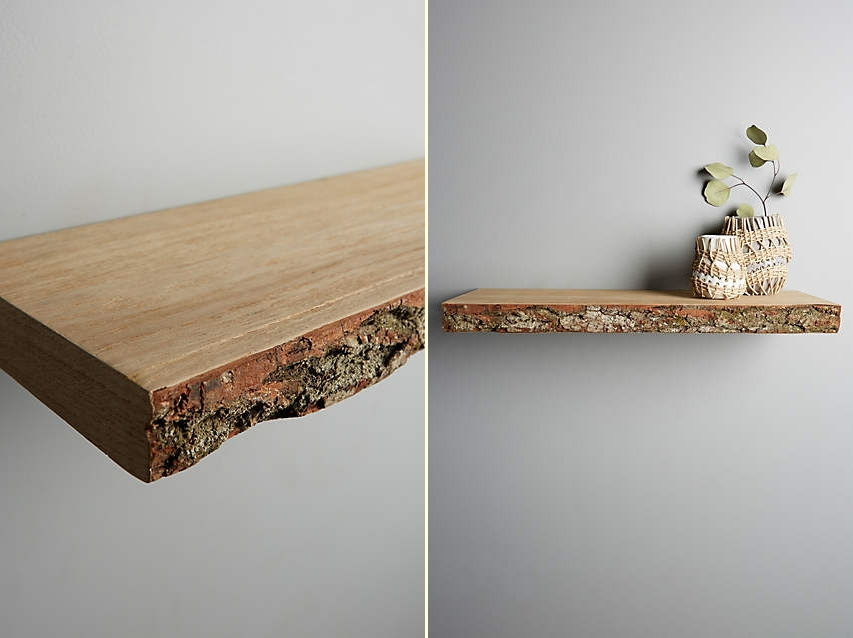 44. Live-Edge Wood Floating Shelf : Live-Edge Wood Floating Shelf (via ...