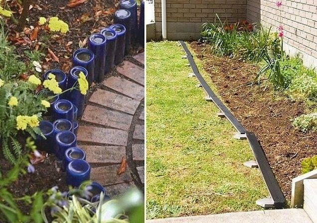Edging Your Garden. Stone Edging Layout With A Hose. Arcadian Lawn