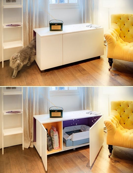 27 modern furniture to conceal the litter box cat litter cabinet diy